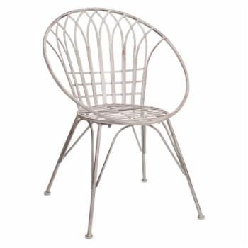 Melrose International White Outdoor Chair - Set of 2