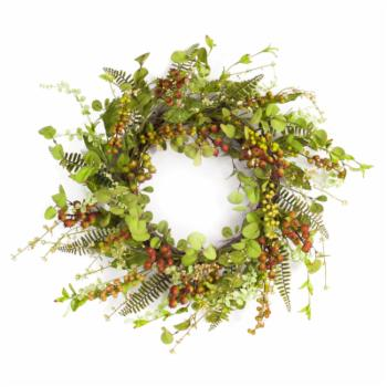 Melrose International 22 in. Mixed Berry and Foliage Wreath