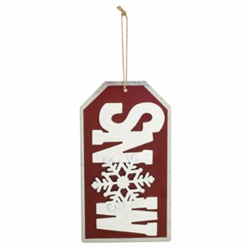 Melrose Snow Tag Ornament - Set of 4
