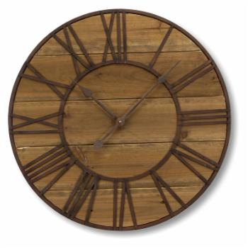 Melrose International Round Roman Numeral Wall Clock