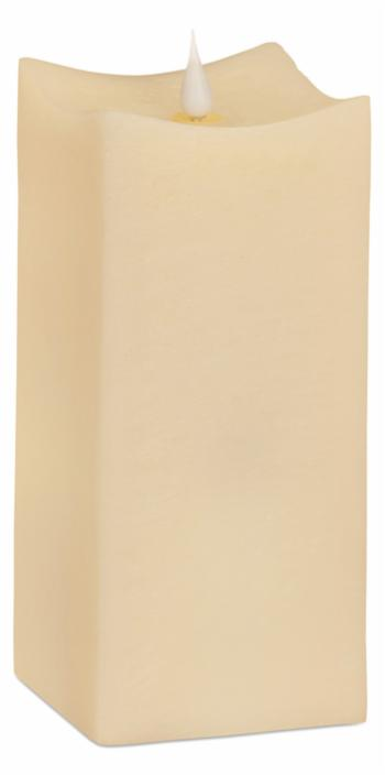 Melrose International Simplux Squared Candle with Moving Flame