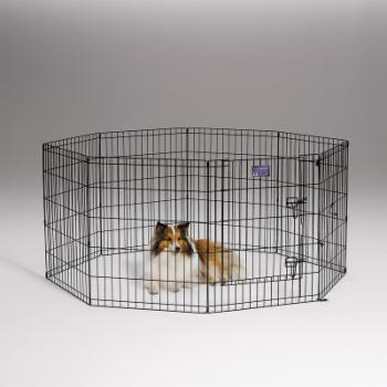 MidWest Homes For Pets Metal Black Exercise Pen with Door / Playpen
