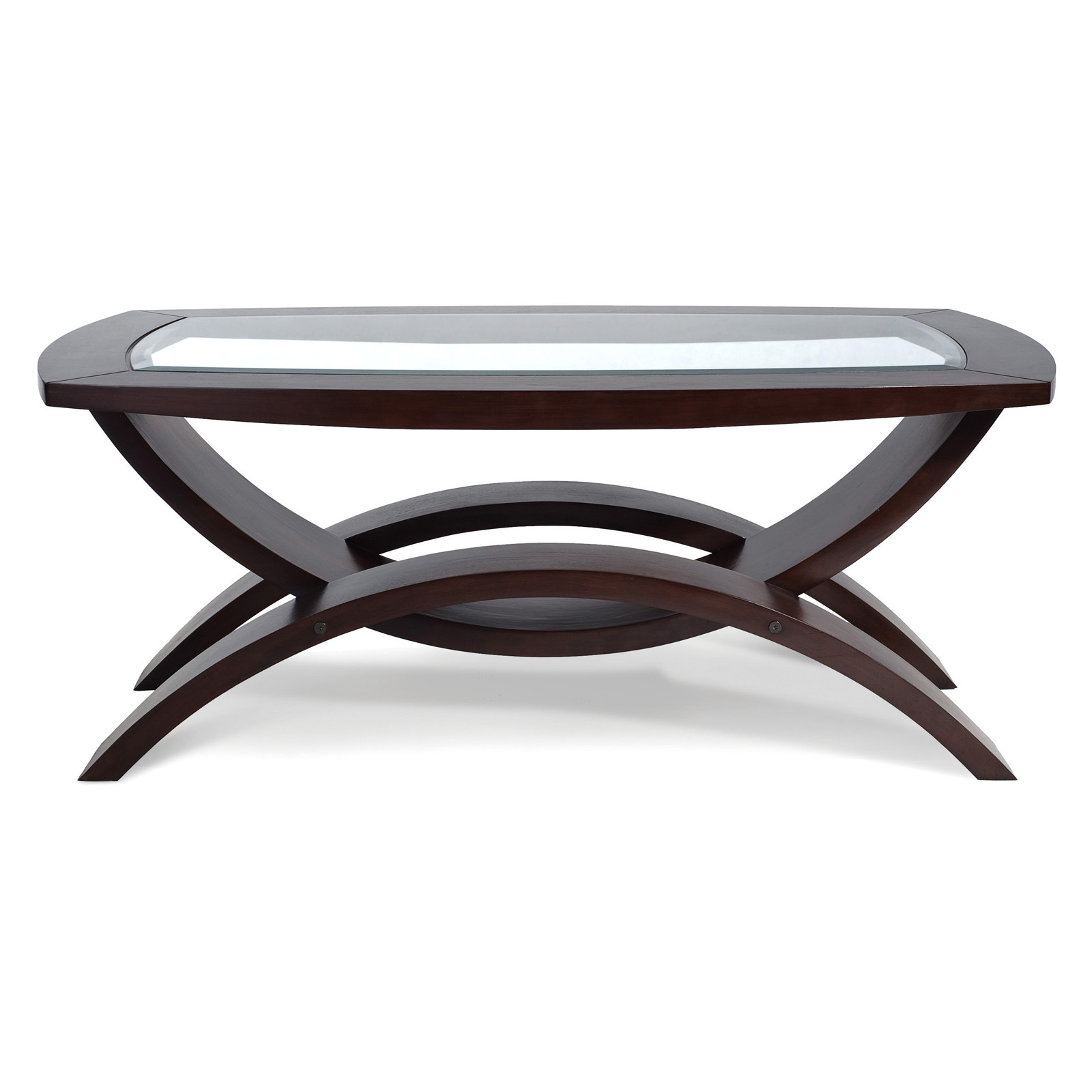 Magnussen T1351 Helix Wood Rectangular Coffee Table