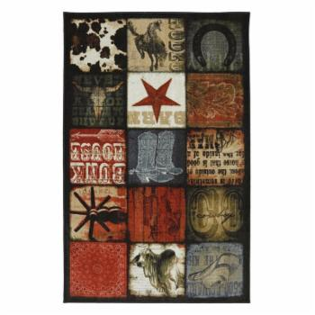 Mohawk Home Escape Cowboy Patches Multicolored Area Rug