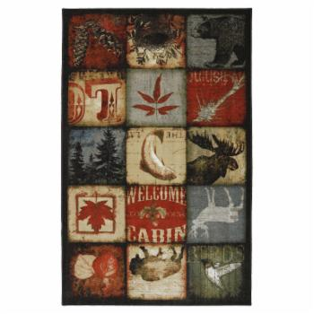 Mohawk Home Escape Lodge Patches Multicolor Indoor Area Rug
