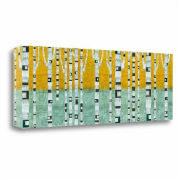 Tangletown Fine Art Birches in Early Winter Canvas Wall Art By Michelle Calkins