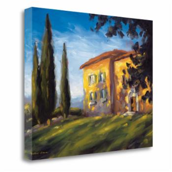 Tangletown Fine Art A Rural VIlla Giclee Print on Gallery Wrap Canvas by Michael Downs