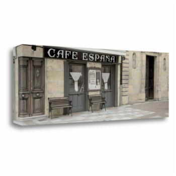 Tangletown Fine Art Cafe Espana Pano Canvas Wall Art By Alan Blaustein