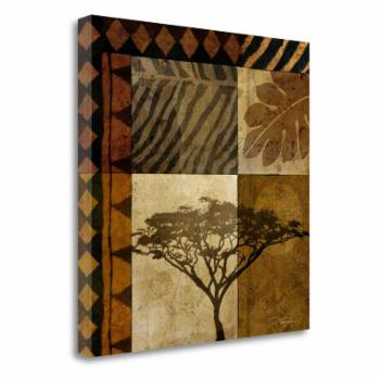 Tangletown Fine Art Acacia Sunrise I Canvas Wall Art