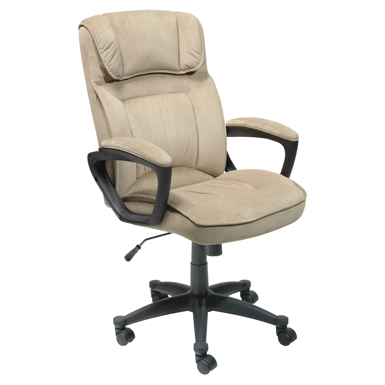 Serta Microfiber Executive fice Chair Light Beige