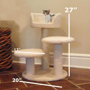 Majestic Pet 27 in. Bungalow Sherpa Cat Tree