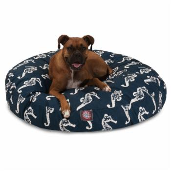 Majestic Pet Sea Horse Round Pillow Pet Bed