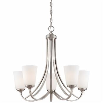 Minka Lavery Overland Park 5 Light Chandelier - Brushed Nickel
