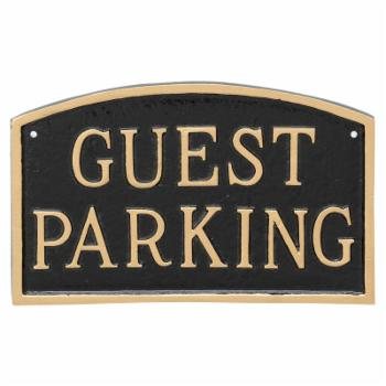 Montague Metal Products Guest Parking Arched Wall Plaque