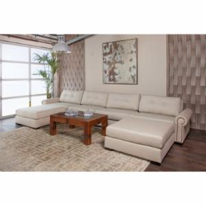 South Cone Chelsea On Tufted Modular U Shape Double Chaise Sectional Sofa