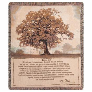 Manual Living Life Tapestry Throw