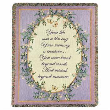 Manual Your Life was a Blessing Tapestry Throw