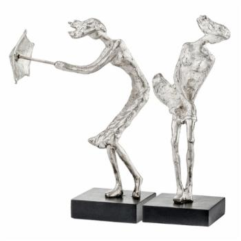 Modern Day Accents Rafaga de Viento Windy Ladies Sculpture - Set of 2