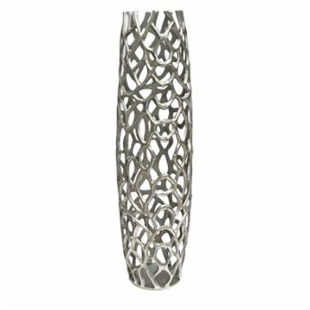 Modern Day Accents Rama Silver Large Twigs Barrel Floor Vase