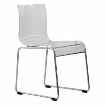 LeisureMod Lima Modern Acrylic Dining Chair