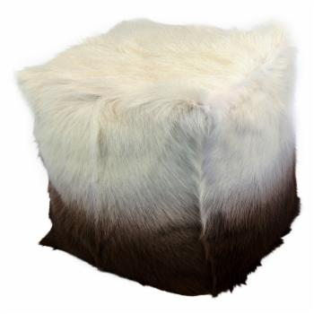Moes Home Collection Goat Fur Pouf Stool