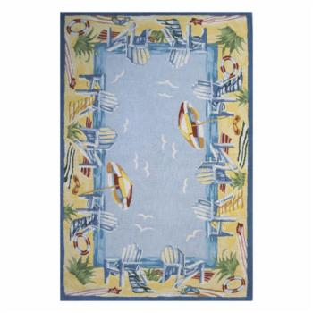 Momeni Coastal Beach Bound Light Blue CC-03 Area Rug