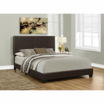 Monarch Specialties Marian Upholstered Bed