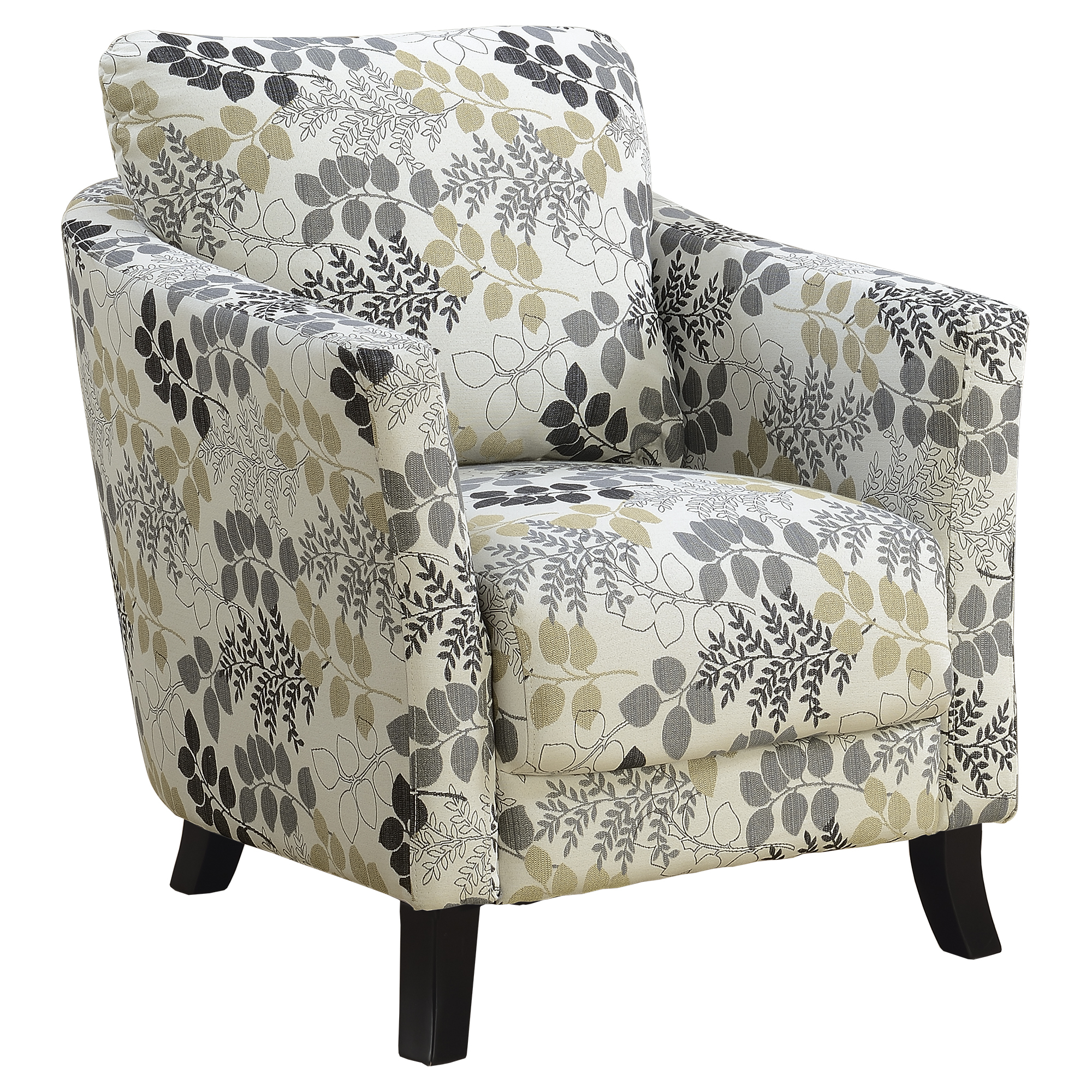 Modest Floral Accent Chair Decoration Ideas