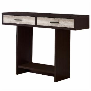 Monarch Specialties Contemporary 2 Drawer Console Table