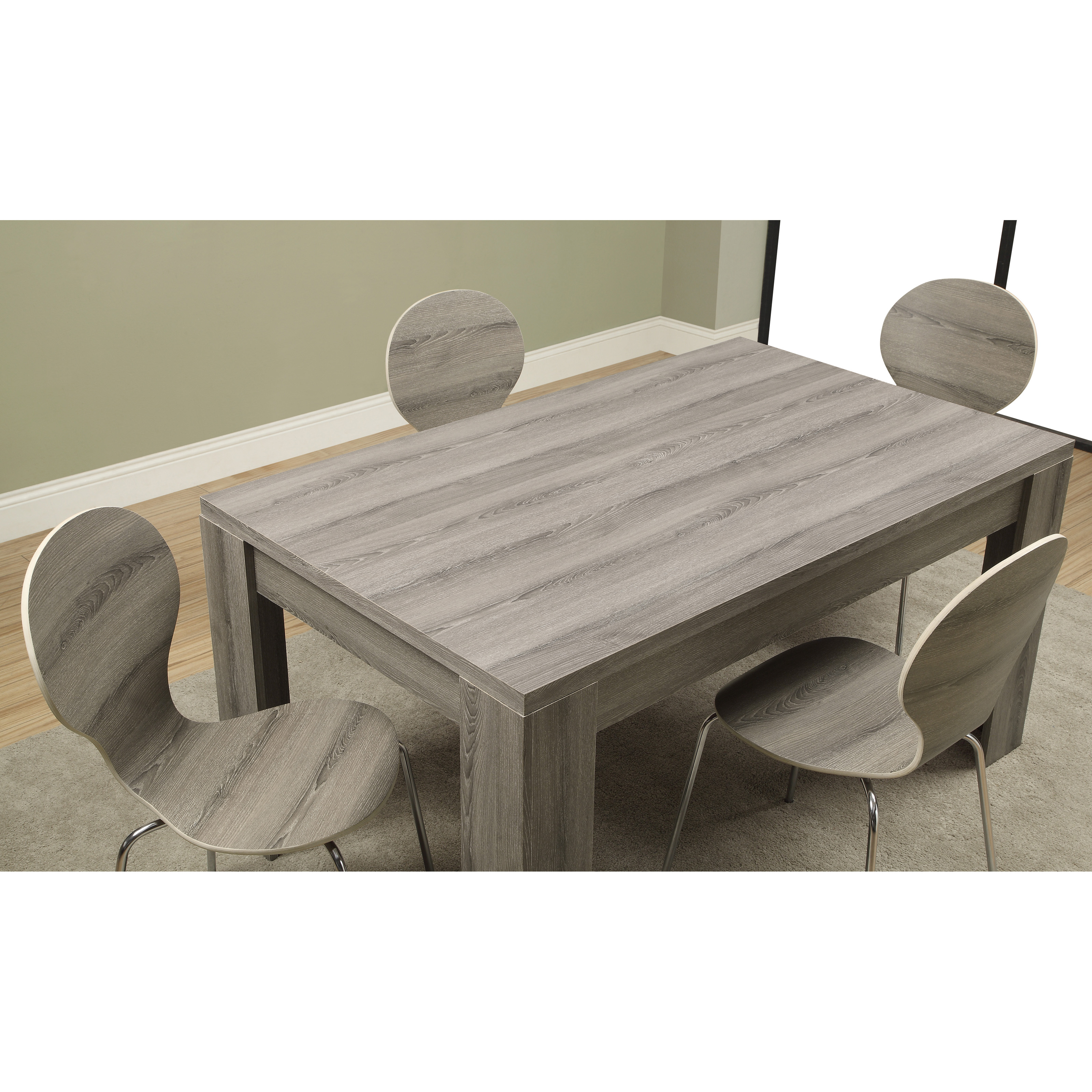 Monarch Greyson Rectangle Dining Table Dark Taupe Hayneedle - 60 inch reclaimed wood dining table