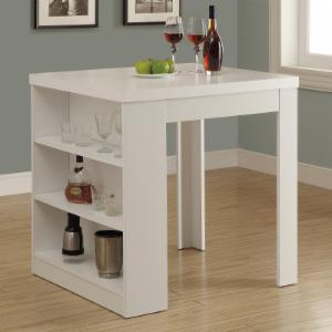 Kitchen dining table with storage hayneedle monarch clayton white square counter height table with shelf storage workwithnaturefo