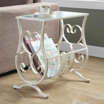 Monarch Magazine Table with Tempered Glass