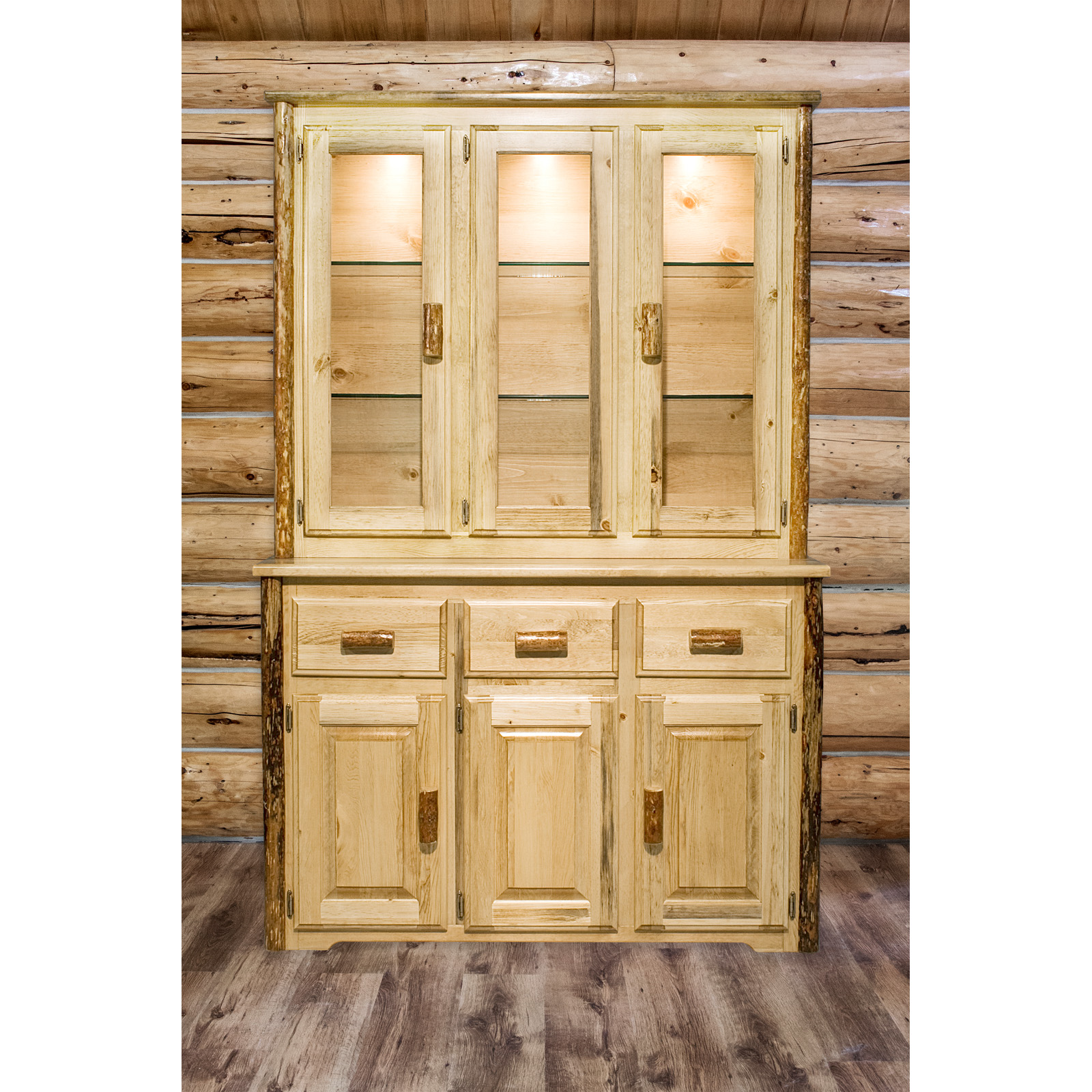 Montana Woodworks Glacier Country China Hutch