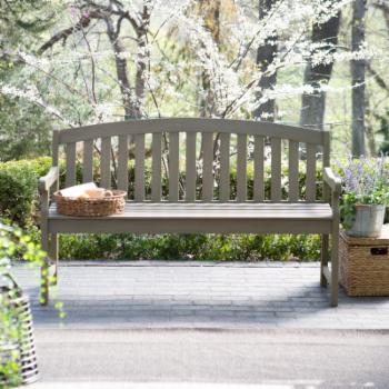 Coral Coast Amherst Curved Back 5 ft. Outdoor Wood Garden Bench - Driftwood