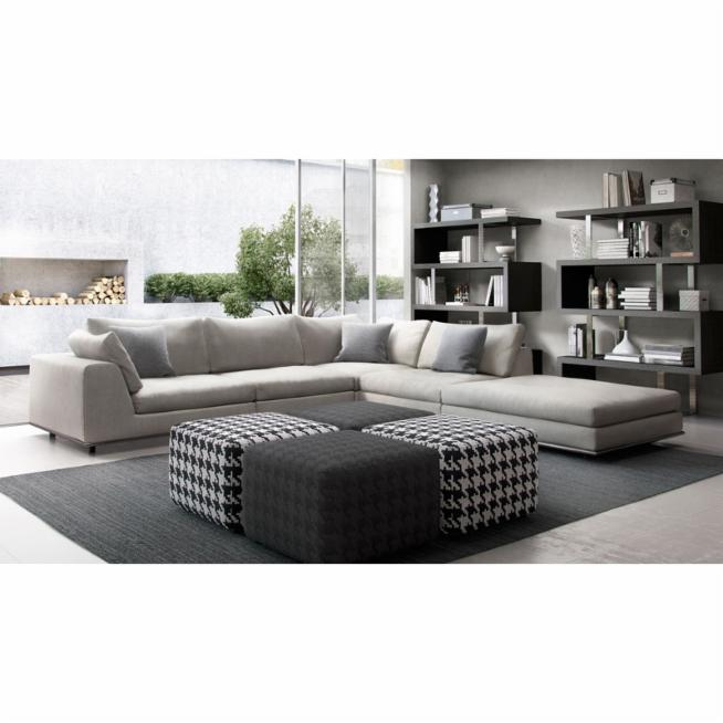 Modloft Perry 5 Piece Sectional Sofa with Chaise