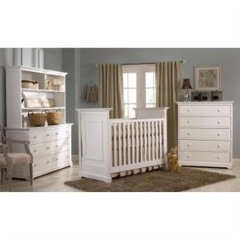 Centennial Chesapeake Classic 3-in-1 Convertible Crib - White