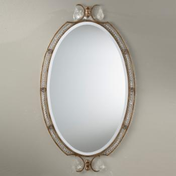Valentina Crystal Vanity Wall Mirror - 20W x 35H in.