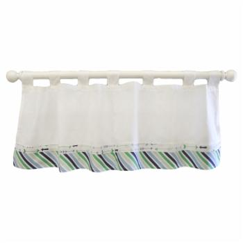 My Baby Sam Follow Your Arrow Navy Curtain Valance