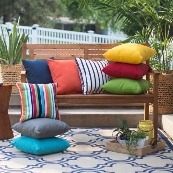 Belham Living Surfside 16 in. Sunbrella Outdoor Pillows - Set of 2