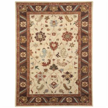 Dynamic Rugs Charisma 1411 Labyrinth Persian Rug - Ivory/Brown