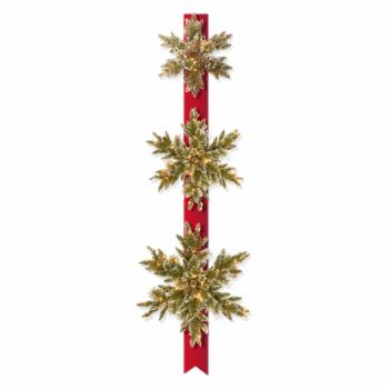 National Tree Company Pre-Lit Snowflake Door Hang with Battery Operated LEDs - Set of 3