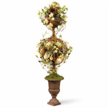 National Tree Company 26 in. Topiary Easter Floor Silk Plant