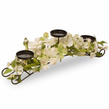 National Tree Company 26 in. Dogwood Candle Holder