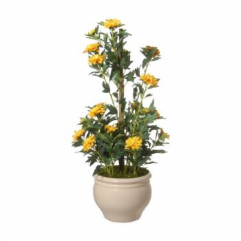 National Tree Company Artificial Potted Zinnia Flowers