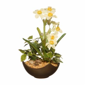 National Tree Company Artificial Potted Narcissus Plant