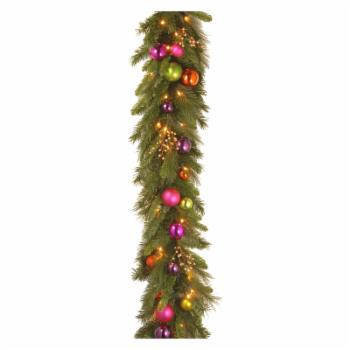 6 ft. Kaleidoscope Pre-Lit LED Garland - Battery Operated