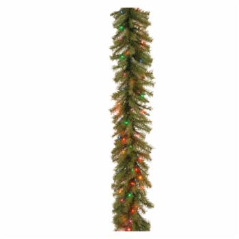 9 ft. Norwood Fir Pre-Lit Garland - Multi-Colored