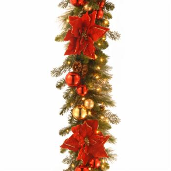 9 ft. Decorative Collection Home For the Holidays Pre-Lit Garland