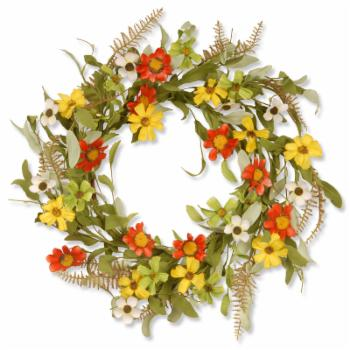 National Tree Company Garden Accents 20 in. Floral Wreath with Sunflowers