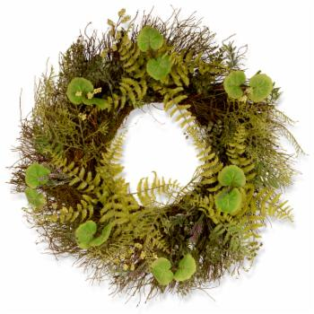 National Tree Company Garden Accents 24 in. Fern and Lavender Wreath